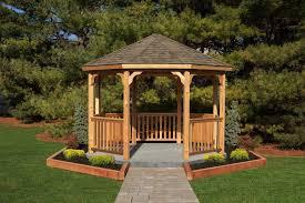 yardcraft unfinished cedar wood octagon