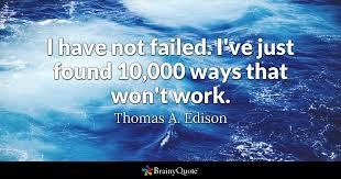 Thomas Edison Quotes New Thomas A Edison Quotes BrainyQuote