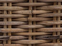 Close-up of brown woven rattan