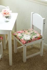 diy fancied up kids table and chairs fancy ashley