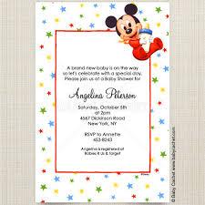 Disney Baby Mickey Bottle Baby Shower Invitations Disney Baby Mickey