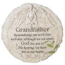loss of grandfather memorial garden stone