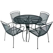 wrought iron patio table rectangle nice white outdoor furniture rod 60 round
