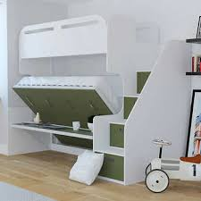 bunk beds with stairs. Jessie Twin Over Full Landscape Bunk Bed With Stair Storage \u0026 Desk, Green Beds Stairs