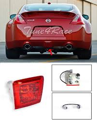 Jdm Rear Fog Light Details About For 09 Up Nissan 370z Z34 Rear Fog Light Tail Brake Lamps Jdm Crystal Red Lens