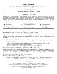 Resume Template Construction Director Of Construction Resume Example Mplett Resume Templates 5