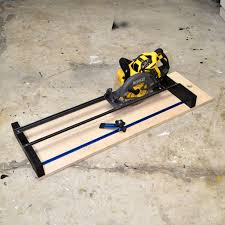 picture of how to make a circular saw crosscut jig and router guide 2 in 1