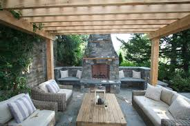 modern outdoor fireplace patio in patio traditional with covered patio beige outdoor cushion