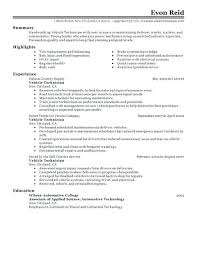 Auto Tech Resumes Auto Mechanic Automotive Technician Resumes Service Resume Sample