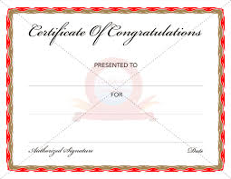 congratulation templates congratulation certificates certificate templates