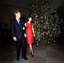 jfk years in office. president and first lady at christmas reception 12 december 1962 jfk years in office