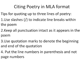 Ppt Citing Poetry In Mla Format Powerpoint Presentation Id2536971