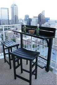 Outdoor Furniture Small Balcony Space Saving Folding Balcony Bar