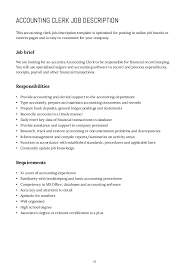 Accounting Assistant Job Description Beauteous How To Write Job Descriptions