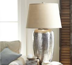 great hammered metal table lamp leah oversized table lamp pottery barn
