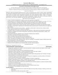Logistics Manager Resume Cover Letter Transport And Logistics ...