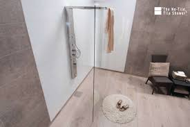 laminated wall panels in a shower and in the bathroom surrounds innovate building solutions