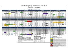 How To Make A School Calendar Calendars Academic Year About Mount Airy City Schools