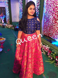 Indian Baby Girl Lehenga Designs With Square Neck Kids Blouse Designs Kids Gown Kids Frocks