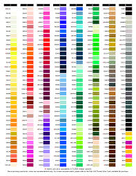 Mettler Color Chart 22 Expert Free Embroidery Thread Conversion Chart
