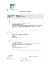 New Employee Checklist Template Free Documents Download