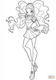 Small Picture Winx Aisha coloring page Free Printable Coloring Pages