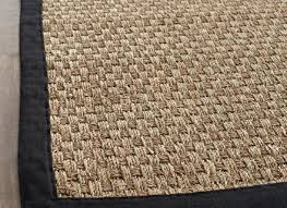 casual handwoven sisal natural black seagrass rug 8 039 x 10