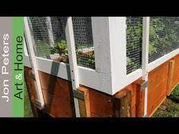 raised bed garden fence deer screen