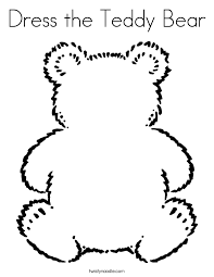 Small Picture Dress the Teddy Bear Coloring Page Twisty Noodle