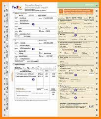 9 Fedex Air Waybill Form Lbl Home Defense Products