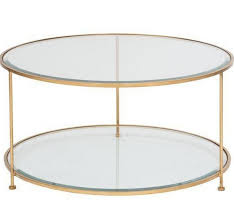 rollo round gold leaf coffee table