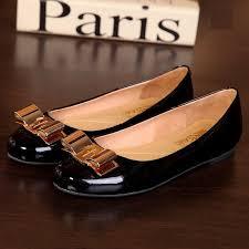 women s salvatore ferragamo varina patent leather flats black