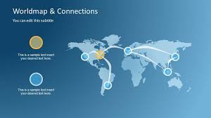 Powerpoint World Worldmap Connections Powerpoint Template
