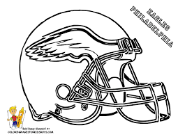 Small Picture eagle football coloring pages Football Helmet Coloring Page 01