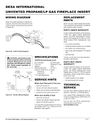 specifications replacement parts technical service desa vi33pr user manual page 20 28