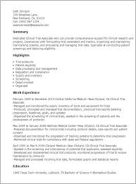 Resume Templates: Clinical Trial Associate