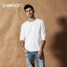 SIMWOOD 2019 Autumn Winter New Long sleeve solid t shirt ... - Vova