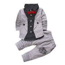 2017 Hot Sale Baby <b>Kid Baby Boy Gentry</b> Clothes Set Formal Party ...