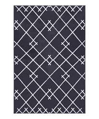 dark gray coyer geometric area rug