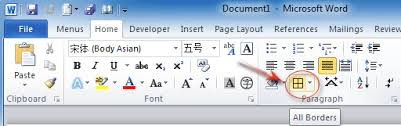 Microsoft Word Border Where Is Border In Microsoft Office 2007 2010 2013 And 365