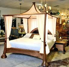 cool queen size 4 poster bed stylish wood canopy frame with 25 best curtain amazing king