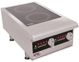 apw wyott ihp 2 7 000 watt electric double countertop induction range cooker