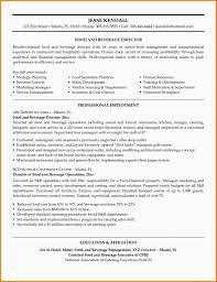 Food And Beverage Manager Cv Examples Ats Resume Samples
