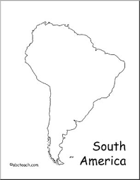 Map South America Outline Abcteach