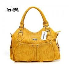 Coach Embossed Medium Yellow Satchels Outlet Sale VIP Shop