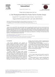 Product Service System Design A Task Management Method For Product Service Systems Design