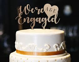 Engagement Cake Etsy