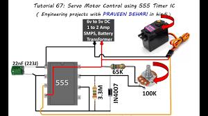 servo motor control using 555 timer ic tutorial 67