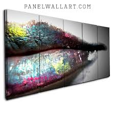 painted lips on 72 wide wall art with collection a from 1 panel to 6 panel max 72 wide