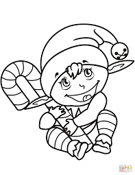 Small Picture Coloring Book Christmas Elf Coloring Pages